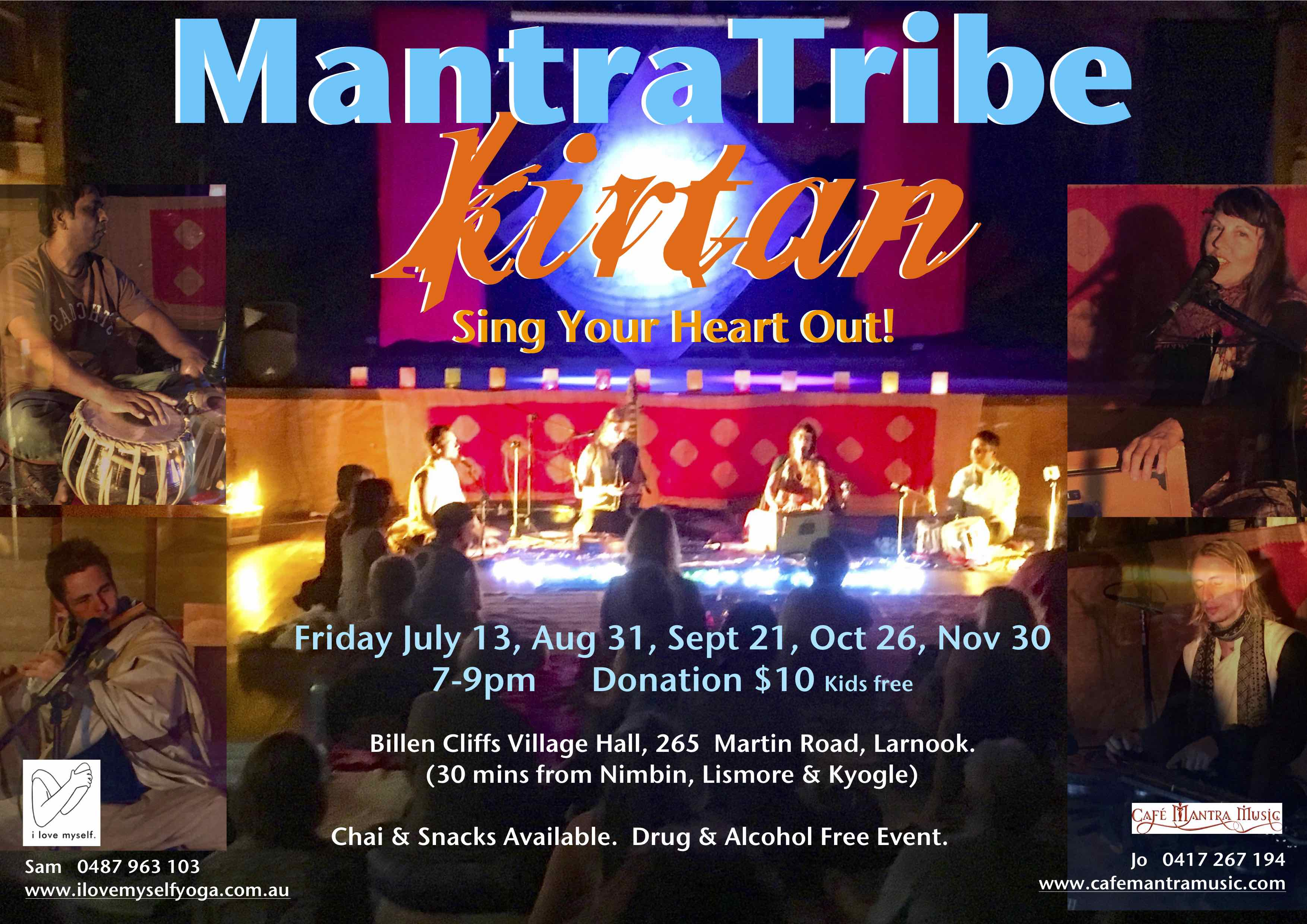 Poster - Mantra Tribe July-Nov A4 Email